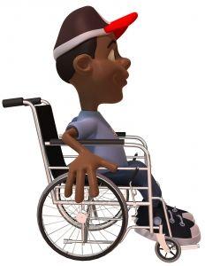 clip art, nino con discapacidad