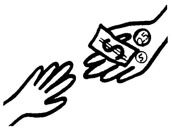 ClipArt- compra y pagar dos manos
